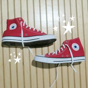Converse All-Star High Top Sneakers, Red, Canvas